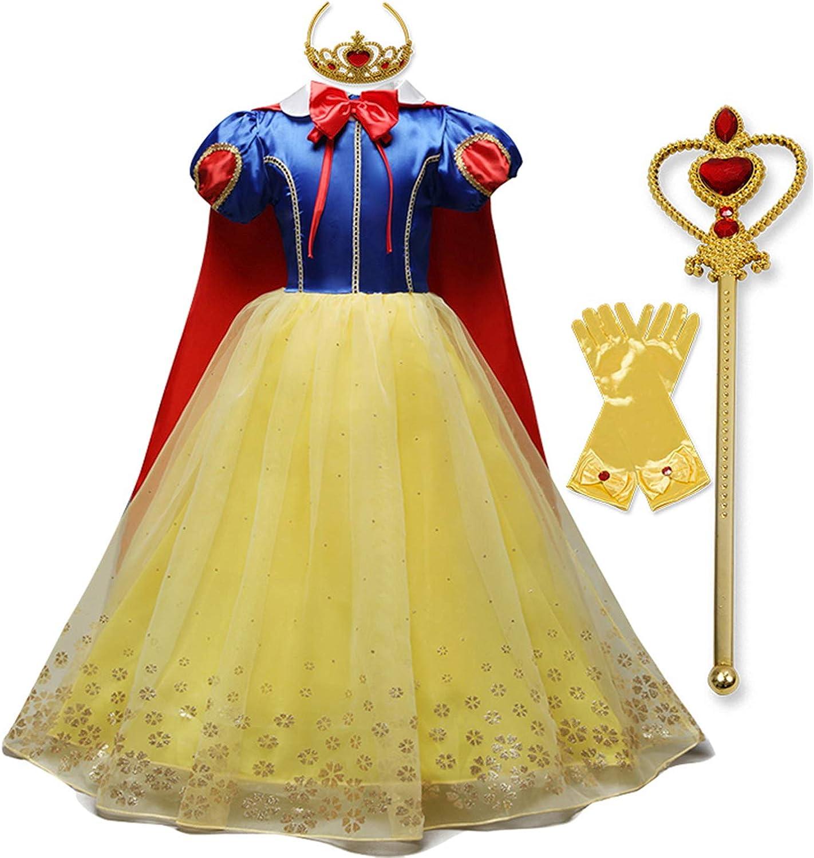 NNJXD Girl Princess Costumes Christmas Hollween Cosplay Dresses