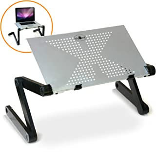 DJcool PC Laptop Notebook DJ Riser Stand w/ Adjustable Vented Aluminum Surface For Up To 17