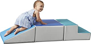 SoftScape Toddler Playtime Climber, Indoor Active Play Structure for Toddlers and Kids, Safe Soft Foam for Crawling and Sliding (3-Piece Set) - Contemporary/Navy