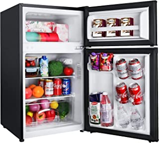 TACKLIFE Compact Refrigerator 3.1 Cu.Ft, 2 Door Mini Fridge with Freezer, Perfect for Office, Dorm, Apartment, RV, with 7 ...