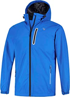 Men's Rain Jacket Lightweight Hooded Waterproof Windbreaker Cycling Running Raincoat