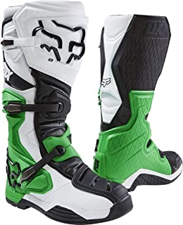 Fox Racing Comp 8 SE Men's Off-Road Motorcycle Boots - White/Black/Green / Size 15