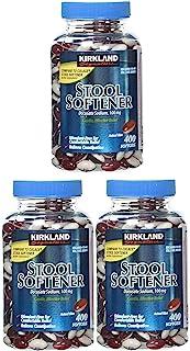 Kirkland Signature 100 Mg Stool Softener, 400 Softgels (Pack of 3)