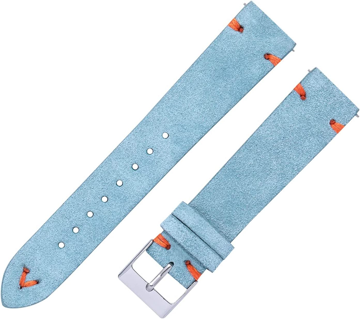 ZYOONG Suede Watch OFFicial mail order Straps 18mm 20mm Reservation Hand Green Beige Stitched Bl