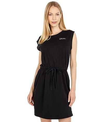 Calvin Klein Sleeveless Cinched Waist CK Logo Dress