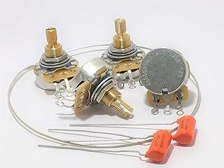 CTS TAOT CUSTOM 525K SHORT Shaft Audio Pots - 500K - Set of 4 (4X) + Caps