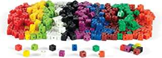 hand2mind Plastic, Assorted Colors, Linking Unit Cubes with Storage Tub (Set of 500)