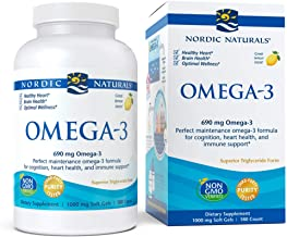 Nordic Naturals - Omega-3, Cognition, Heart Health, and Immune Support, 180 Count Soft Gels (FFP)