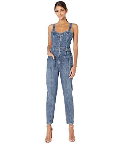 La Vie Rebecca Taylor Sleeveless Dry Indigo Jumpsuit (Celeste Wash) Women