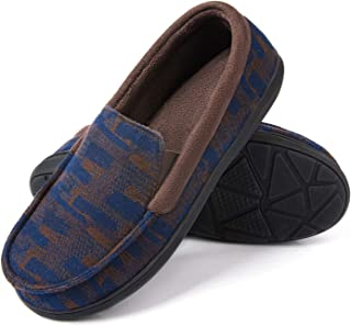 RockDove Men's Moc Slipper with SILVADUR Anti-Odor Protection