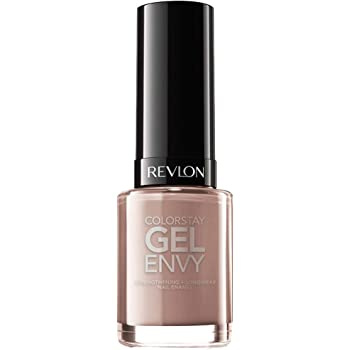 Revlon ColorStay Gel Envy Longwear Nail Polish, with Built-in Base Coat & Glossy Shine Finish, in Nude/Brown, 535 Perfect Pair, 0.4 oz