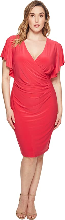 Plus Size Kahlo Matte Jersey Dress