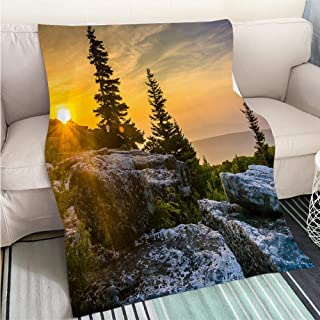 BEICICI Custom homelife Abstract Home Decor Printing Blanket Sunrise at Bear Rocks Preserve in Dolly Sods Wilderness Monon Fun Design All-Season Blanket Bed or Couch