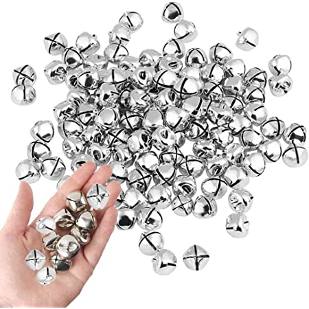 300 PCS Christmas Jingle Bells Colorful Metal Small Bells 1//2 Inch Mini Bells Bulk for Festival /& Home Decoration Craft Bells DIY Charms Jewelry Making