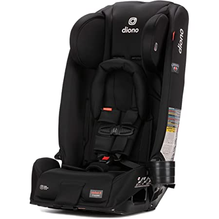 Diono Radian 3RX 3-in-1 Rear and Forward Facing Convertible Car Seat, Adjustable Head Support & Infant Insert, 10 Years 1 Car Seat Ultimate Safety and Protection, Slim Fit 3 Across, Jet Black