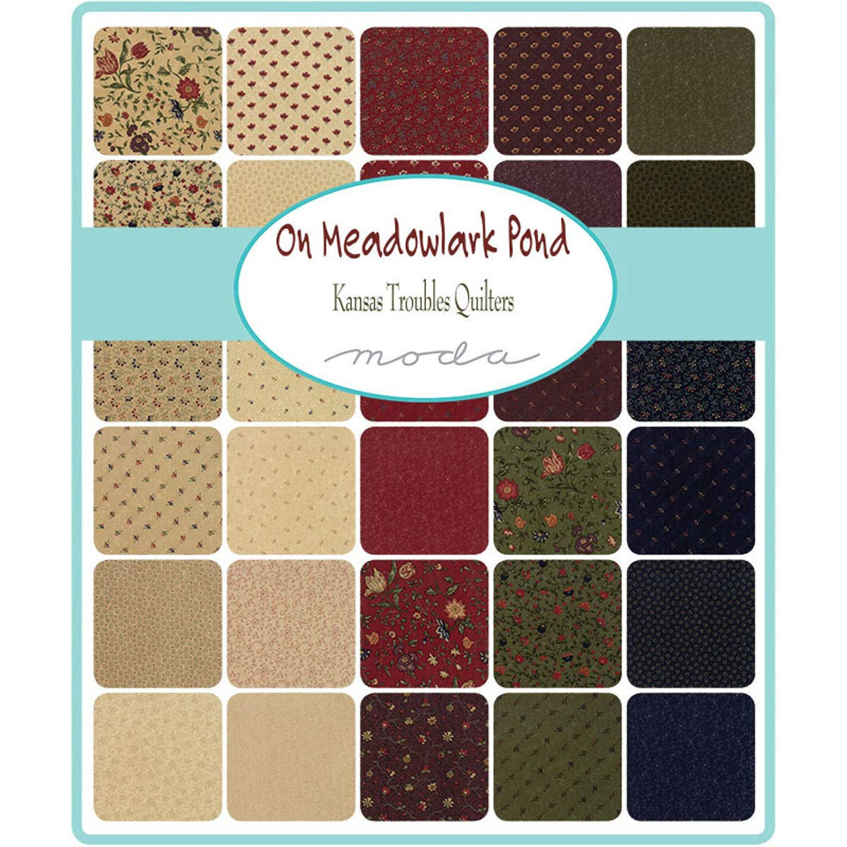 Moda Fabric On Meadowlark Pond Mini Charm - Sold Per 1/4 Metre (Long Quarter): Amazon.es: Hogar