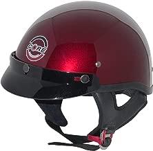 Core Cruiser Shorty Half Helmet (Wine, Medium)