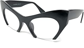 (TM) - Cateye High Pointed Eyeglasses or Sunglasses