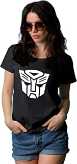 Black T Shirts for Women - Auto Graphic Tees for Womens
