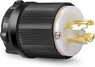 Aweking UL Listed NEMA L16-20P Plug Connector Male,20A 20 Amp,AC 480V 480 Volt,3 Pole-4 Wire,Grouding,Twist Locking,Black Gray