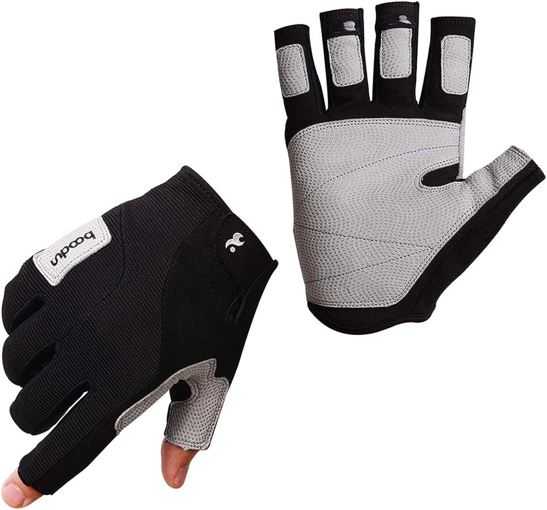 AmDxD Herren Outdoor SportHandschuhe mit Touchscreen Funktion Schwarz Handschuhe Gre Gro