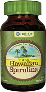 Pure Hawaiian Spirulina-500 mg Tablets 200 Count - Natural Premium Spirulina from Hawaii - Vegan, Non-GMO, Immunity Suppor...