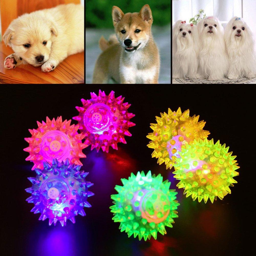 Juguete de pelota de masticar para mascotas, LED luminoso ...
