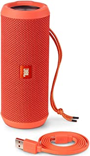(Renewed) JBL Flip 3 Portable Wireless Speaker with Powerful Sound & Mic (Orange)