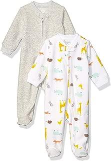 Amazon Essentials Baby 2-Pack Microfleece Sleep and Play