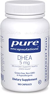 Pure Encapsulations - DHEA 5 mg - Micronized Hypoallergenic Supplement to Support Healthy DHEA Levels - 180 Capsules