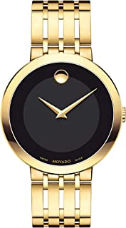 Men's Esperanza Yellow Gold Watch with a Concave Dot Museum Dial, Gold/Black (Model 607059)