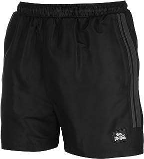 Pantalones Cortos de Entrenamiento para Hombre, Dos Rayas, Interior de Malla, Tejido