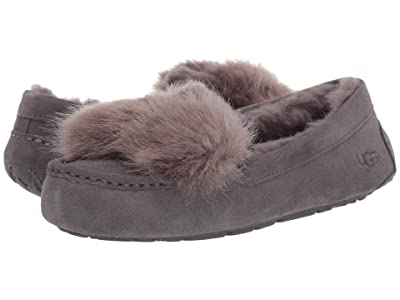 UGG Ansley Puff Bow (Charcoal) Women