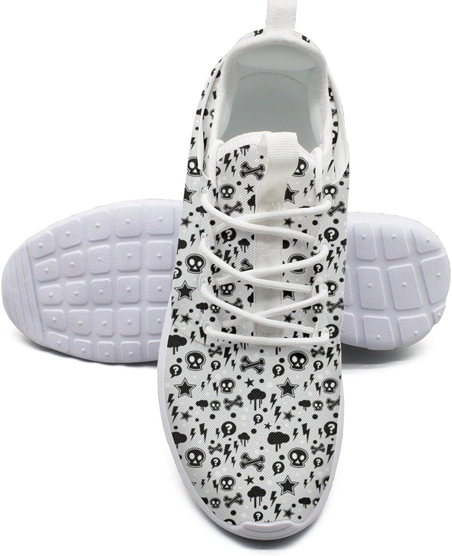 Skull Lightning Women's Lightweight Mesh Basketball Sneakers Cool Boat shoes