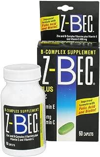 Z-Bec - Vitamin B Complex with Zinc Supplement - 45 IU / 600 mg Strength - Tablet - 60 per Bottle