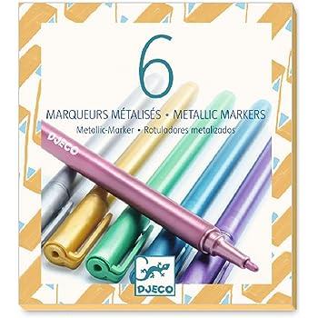 mint grün rosa rot blau pink Gelstift Fasermaler Pen Metallic 6 Glitzer Marker