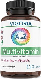 Complejo Multivitamínico con Minerales y Hierro - Fortalece el sistema inmunológico. el corazón y el cerebro - Alivia el cansancio y la fatiga - Aumenta el bienestar y la energía (120 veg comprimidos)