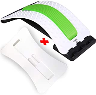 Best Arched Back Stretcher As Seen Doctors TV + 2 Different Boards, CHISOFT Lumbar Stretching Device + 2 Foam Cushion + Posture Corrector, Lumbar Traction, Sciatica Relief