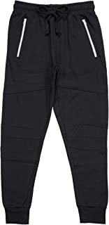 North 15 Men's Fleece Cotton Jogger Pants with Zippered Pockets