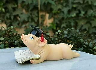 Miniature FAIRY GARDEN Figurine ~ MINI Cute Piggy Pig Lounging