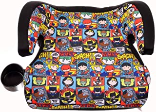 KidsEmbrace Justice League Booster Car Seat, DC Comics Chibi Youth Backless Seat, Red