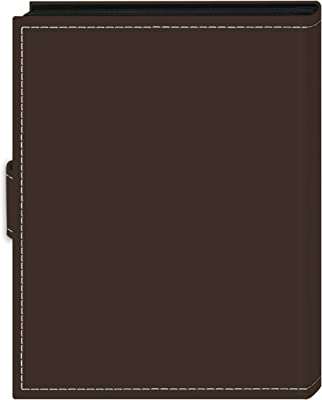 """Pioneer Photo Albums 36-Pocket 4 by 6-Inch Embroidered """"Travel"""" Strap Sewn Leatherette Cover Photo Album, Mini, Brown"""