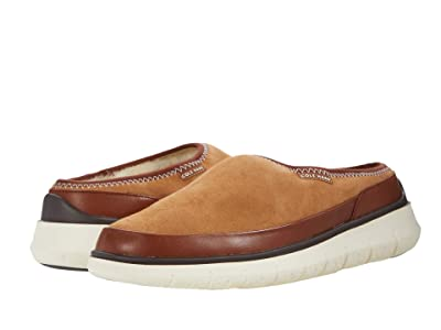 Cole Haan Generation Zerogrand Dweller Shearling Slipper (Light Brown) Men