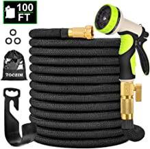 TOCZIM 100ft New Expandable Garden Hose – Superior Strength 3750D, 4-Layers Latex..