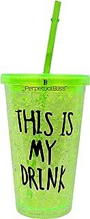 Perpetual Bliss Fancy 3D Sipper Glasses with Straw for Kids/Juice/Milkshake/Milk/Coffee/Soft Drink/Kids Birthday/Return Gifts