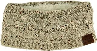 Winter CC Confetti Warm Fuzzy Fleece Lined Thick Knit Headband Headwrap Hat Cap