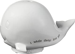 Precious Moments Always Love You Whale Ceramic LED Essential Oil Night Light 183405 Diffuser, One Size, Multi