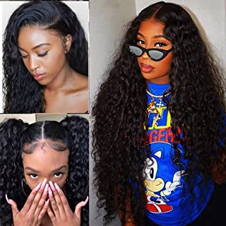 Ms Sunlight 8A Brazilian Water Wave Lace Front Wig Natural Hairline 130% Density Human Hair