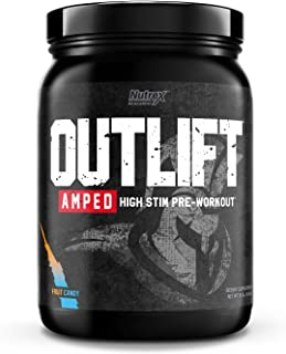 Nutrex Research Outlift Amped | Premium Pre-Workout Focus & Energy, Citrulline, Teacrine, Betaine, Creatine...
