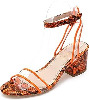 Best chunky orange heels Reviews